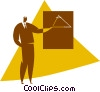 Vector Clipart image  of a person making a presentation