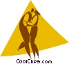 Vector Clipart picture  of a dancers
