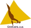 Vector Clip Art image  of a gymnast