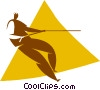 Vector Clip Art graphic  of a mountain climber