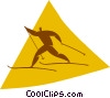 cross-country skiing Vector Clipart image
