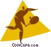 tennis player Vector Clip Art image