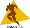 football player Vector Clip Art graphic