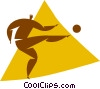 soccer player Vector Clipart illustration