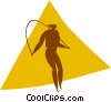 Vector Clipart graphic  of a skipping rope