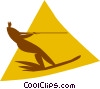 Vector Clip Art image  of a water skiing