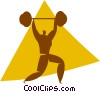 Vector Clipart illustration  of a weightlifters