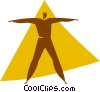 aerobics Vector Clipart image