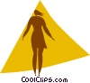 businesswoman Vector Clipart illustration