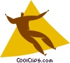 Vector Clip Art picture  of an aerobics