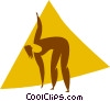 Vector Clip Art image  of an aerobics