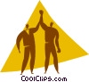 Vector Clip Art picture  of a winner of a boxing match