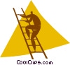 person climbing a ladder Vector Clip Art picture