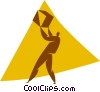 person lifting a box Vector Clipart picture
