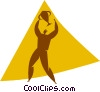 person with a trophy Vector Clipart illustration