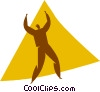 Vector Clip Art graphic  of an aerobics