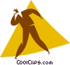 Vector Clip Art picture  of a man singing