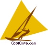 windsurfing Vector Clip Art picture