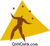 Vector Clip Art graphic  of a juggle