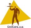 waiter Vector Clipart illustration