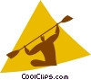 kayaking Vector Clip Art graphic