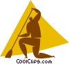 person sweeping Vector Clipart graphic