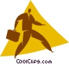 Vector Clipart picture  of a businessman with a briefcase