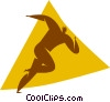 Vector Clip Art graphic  of a person running