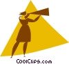 person speaking into a megaphone Vector Clipart picture