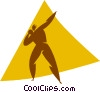 Vector Clipart graphic  of a shot put