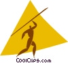 Vector Clipart graphic  of a javelin