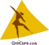 figure skater Vector Clipart picture