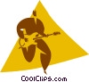 person playing the guitar Vector Clipart graphic