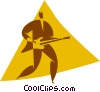 Vector Clip Art graphic  of a person playing the electric