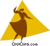Vector Clip Art image  of a ballroom dancer
