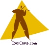 person playing the violin Vector Clip Art picture