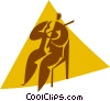 person playing the violin Vector Clip Art image