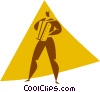 man playing an accordion Vector Clipart graphic