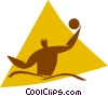 Vector Clip Art image  of a water polo player