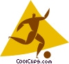 soccer player Vector Clipart graphic
