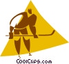 Vector Clipart illustration  of a hockey player