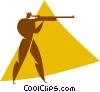 Vector Clipart image  of a biathlon