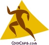 Vector Clipart illustration  of a person running