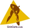 Vector Clip Art image  of a person digging a hole
