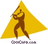 baseball player Vector Clipart graphic