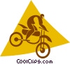 person on a dirt bike Vector Clipart illustration
