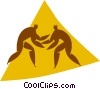 Vector Clipart illustration  of a wrestling
