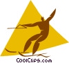 water skiing Vector Clipart illustration