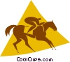 equestrian Vector Clipart illustration