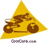 person riding a motorcycle Vector Clip Art image